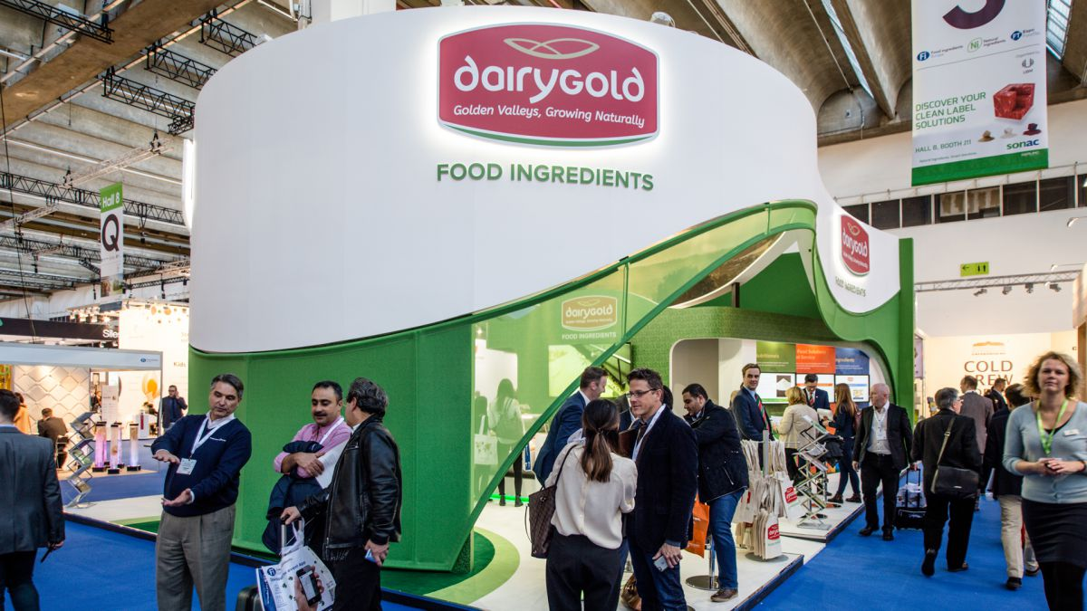 Dairygold exhibition stand exterior