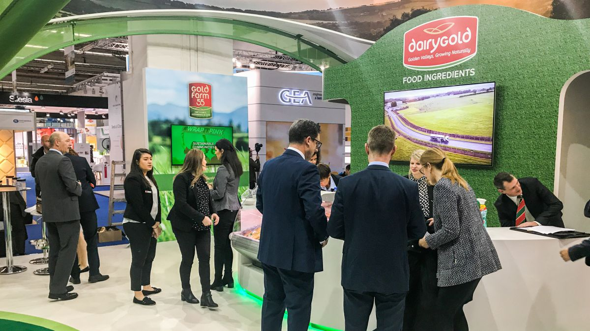 Dairygold exhibition stand interior
